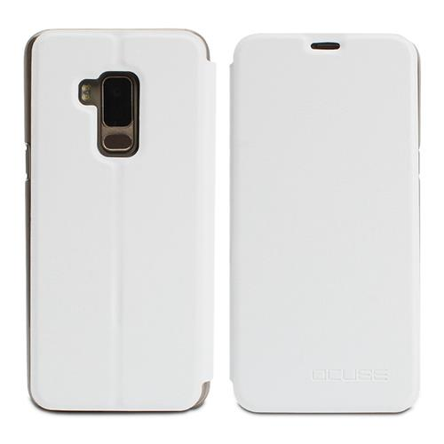 Leather Case Ultra-thin Shockproof Flip Cover Protective Phone Case For BLUBOO S8 - White фото