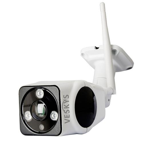 VESKYS Q-G200 1080P WiFi IP Camera 2.0MP Panoramic CMOS Night Vision Fisheye Lens Outdoor Waterproof Security Camera -White