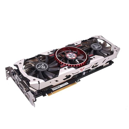 Colorful iGame GeForce GTX1070Ti Vulcan AD 8GD5 256Bit Graphics Card 8Gbps RGB LED Light Triple Fans With HDMI DP DVI-D Interface - Silver