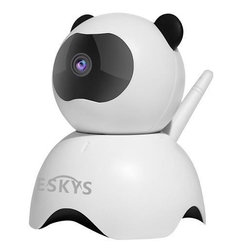 VESKYS C130-Panda 960P Smart WiFi IP Camera CMOS Motion Detection Alarm P2P Night Vision Panda Security Camera -White