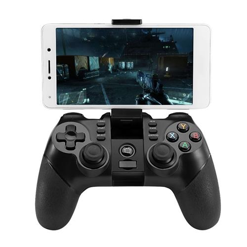 ZM-X6 Bluetooth / 2.4G Wireless Gamepad mit Handyhalter Turbo Funktion für Android iOS Telefon / PC / TV - Schwarz