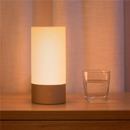 Xiaomi Mijia Bedside Lamp Bluetooth WiFi Connection Touch Control 300Lm 16 Million RGB Color 10W 1700k ~ 6500k - White / Upgraded Version