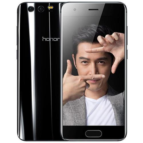 HUAWEI Honor 9 5.15 Inch Smartphone FHD Screen 4GB 64GB Hisilicon Kirin 960 Octa Core 20.0MP + 12.0MP Dual Rear Cam Android 7.0 Touch ID NFC 3D Curved Glass Body - Black
