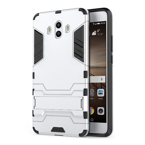 Silver HUAWEI Mate 10 Case Armour 2-in-1 Protective Phone Case Bracket Stand Back Cover