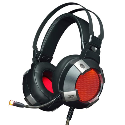Ajazz AX361 Over-Ear Gaming Headset with Mic USB+3.5mm RGB Backlight for PC/Laptop - Black