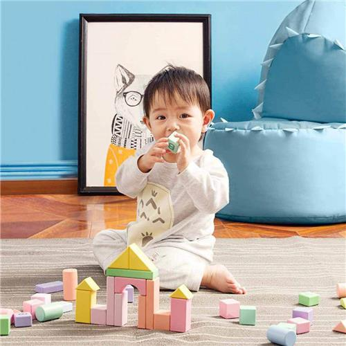 Xiaomi Mijia 80PCS Building Blocks Wooden Puzzle Toy - Colorful фото