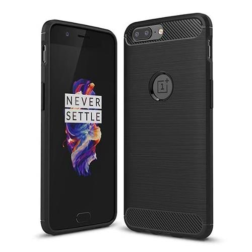 Black OnePlus 5 High Quality Brushed Carbon Fiber Drop Resistance Phone Case