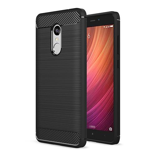 Black Xiaomi Redmi Note 4X Global Version / Redmi Note 4 High Quality Brushed Carbon Fiber Drop Resistance Phone Case Other