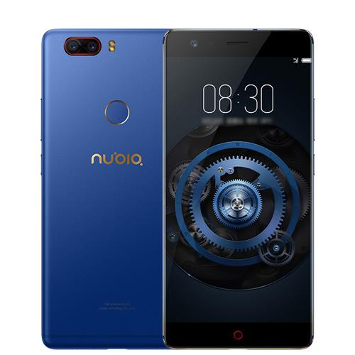 ZTE Nubia Z17 Lite 5.5 Inch Smartphone 6GB 64GB 13.0MP Dual Rear Camera Snapdragon 653 Octa Core Android 7.1 NFC QC3.0 Metal Body Global Version - Blue