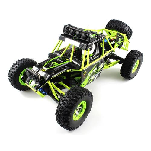 Upgraded WLtoys 12428 1:12 2.4G 4WD Off-road Vehicles with LED Lights RC Car RTR - Green