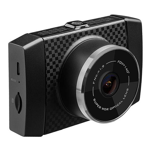 YI Ultra Dash Camera 2.7 Inch LCD 2.7K A17+A7 Dual Core Chip WiFi Voice Control Light Sensor 140 Degree Wide Angle DVR - Black