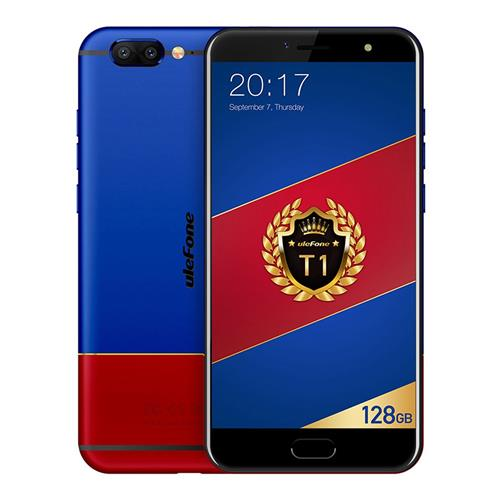 Ulefone T1 Premium Edition 5.5 Inch Smartphone Helio P25 Octa Core 2.6Ghz 6GB 128GB 16.0MP Dual Rear Cam Android 7.0 Type-C Fast Charge Global Version - Red Blue