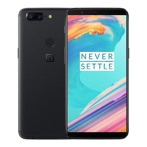 OnePlus 5T 6.01 Inch Smartphone 18:9 FHD+ Screen Snapdragon 835 Octa Core 6GB 64GB 20.0MP+16.0MP Dual Rear Cam OxygenOS NFC Dash Charge Type C Global ROM - Black