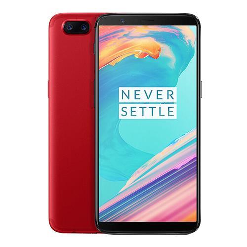 OnePlus 5T 6.01インチスマートフォン18:9 FHD +スクリーンSnapdragon 835オクタコア8GB 128GB 20.0MP + 16.0MPデュアルリアカムOxygenOS NFCダッシュチャージタイプCグローバルROM  - 赤