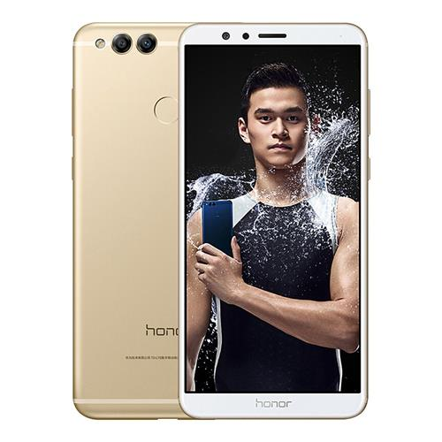HUAWEI Honor 7X 5.93 Inch Smartphone 18:9 Full Screen 4GB 128GB Kirin 659 Octa Core Dual Rear Cam Android 7.0 Touch ID 3340mAh Battery Metal Body - Gold