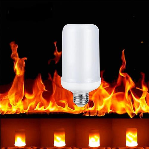 E26 LED Flame Effect Fire Light Bulbs Creative Lights Flickering Emulation Vintage Atmosphere Decoration Lamp