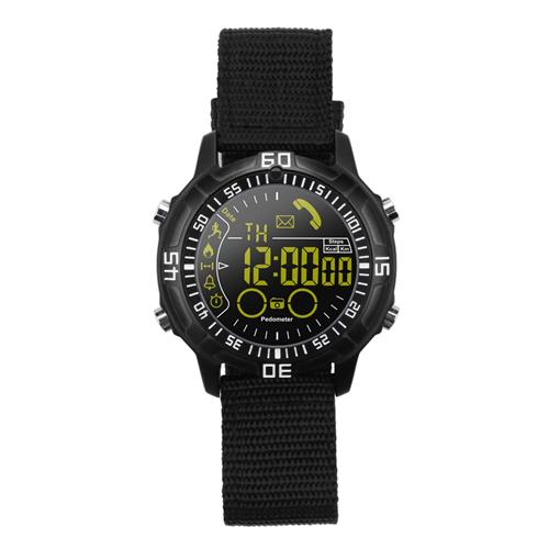 Makibes EX28A Smartwatch 5ATM Water Resistant Bluetooth 4.0 Call SMS Reminder Compatible with IOS Android - Black