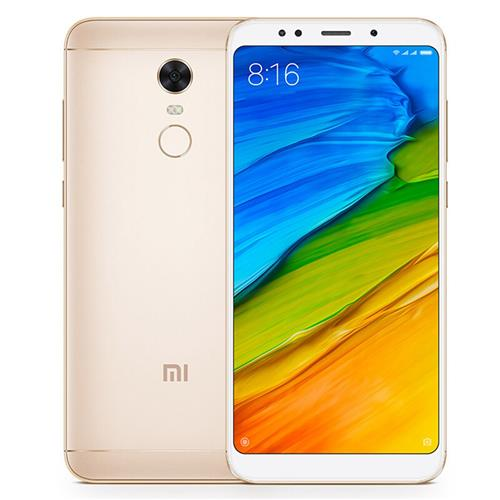 Xiaomi Redmi 5 Plus 5.99 Inch 4G LTE Smartphone 18:9 Full Screen MIUI 9 4GB 64GB Snapdragon 625 Octa Core 12.0MP Cam Touch ID 4000mAh Battery Global ROM - Gold