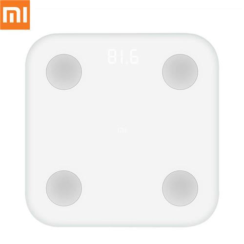 Xiaomi MI Body Fat Scale Bluetooth 4.0 LED Digital Display ABS Material APP Control with BMI Data Analysis International Version - White