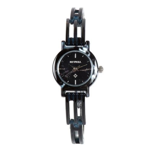 بويل ز-ونومكسا النساء الكوارتز مقاومة الماء ساعة اليد اليشم الاصطناعي-أسود