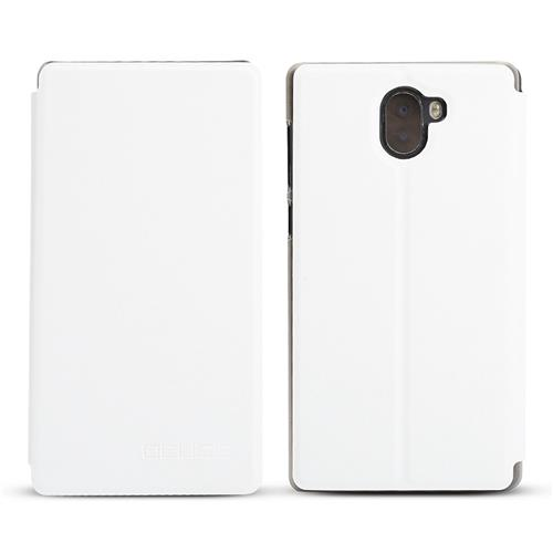 Leather Case Ultra-thin Shockproof Flip Cover Protective Phone Case For Leagoo KIICAA MIX - White фото