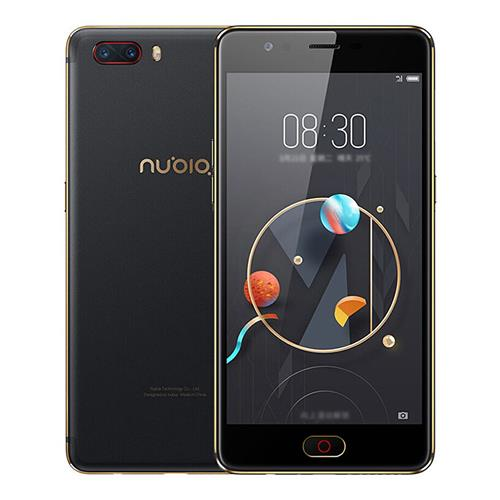 Nubia M2 NX551J 5.5 Inch Smartphone FHD Screen Snapdragon 625 Octa Core A53 2.0GHz 4GB 64GB 13.0MP Dual Rear Camera Touch ID Metal Unibody Global Version - Black Gold