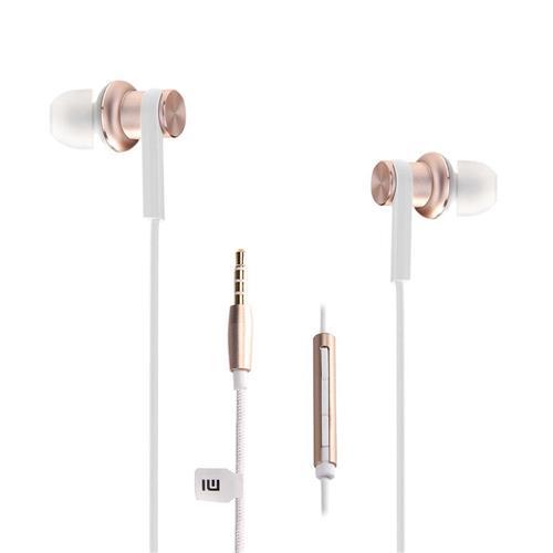 Xiaomi Mi IV Наушники-вкладыши с двумя динамическими наушниками и проводным управлением Наушники с микрофоном для Android iOS - золото