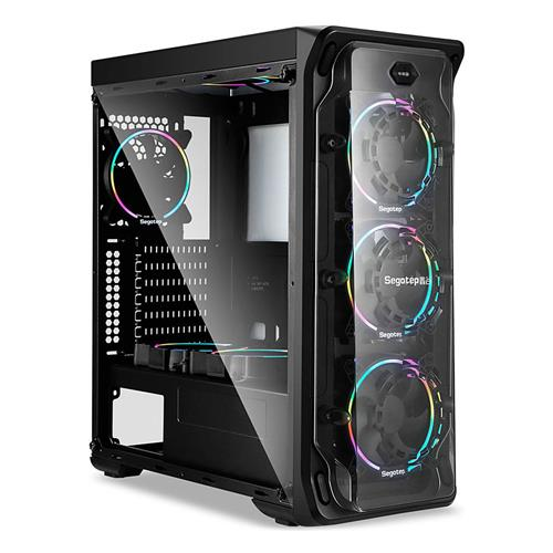 Segotep LUX Computer Case PC Mainframe Support ATX M-ATX ITX - Black
