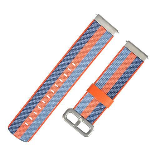 Запасной холст Стильный браслет для ремня для ремня NNXXmm для Xiaomi Huami Amazfit Bip Smartwatch - оранжевый