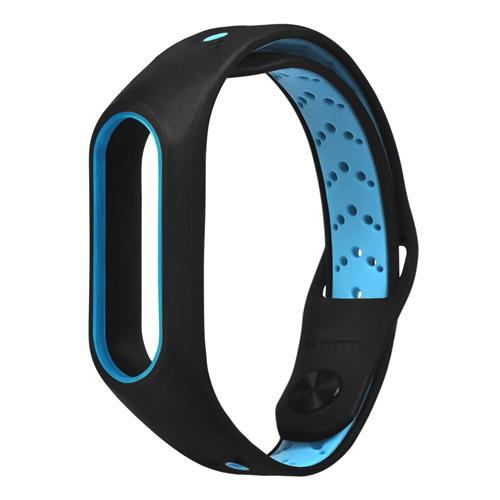 Ανταλλακτικό λουράκι καρπού Wearable Silicon Wristband για Xiaomi MI Band 2 Έξυπνο βραχιόλι - Μαύρο + Μπλε