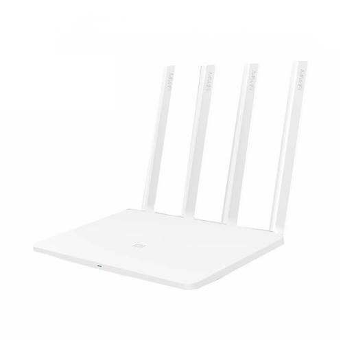 [English Version] Original Xiaomi Mi WiFi 3 Router EU Plug Smart 4 Antennas 1167Mbps Dual Band 128MB Flash ROM Support iOS Android APP - White