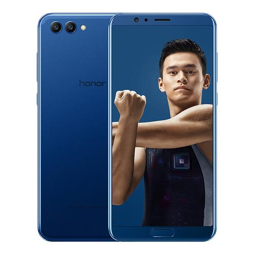HUAWEI Honor V10 5.99 Inch Smartphone FHD+ Screen Android 8.0 4GB 64GB Kirin 970 Octa Core 20.MP+16.0MP Dual Rear Camera Touch ID NFC IR Remote Control SuperCharge - Blue