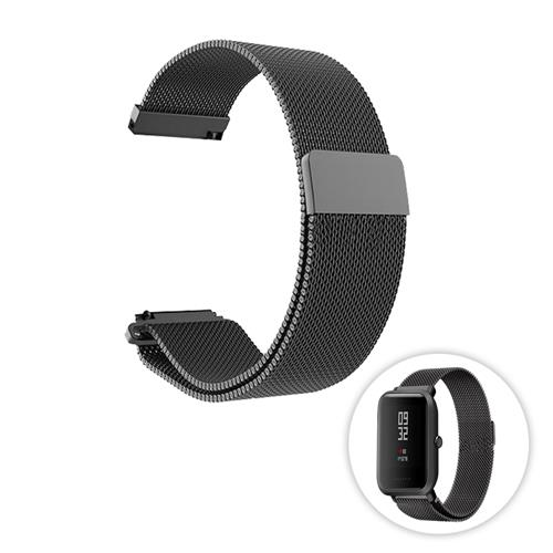 Replacement Watch Band for Huami Amazfit Bip Lite Mesh Metal - Black