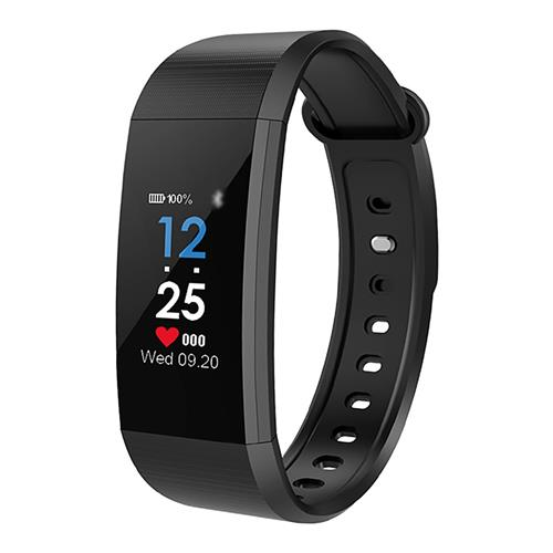 LYNWO I9 Smart Bracelet IPS 0.96 Inch Color Screen Blood Oxygen Blood Pressure Monitor IP67 Water Resistant Compatible With Android IOS - Black