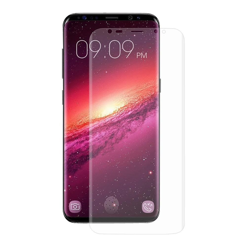 ENKAY Hat-Prince verre trempé 0.01mm PET HD incurvé plein écran protecteur pour SAMSUNG Galaxy S9 + - Transparent
