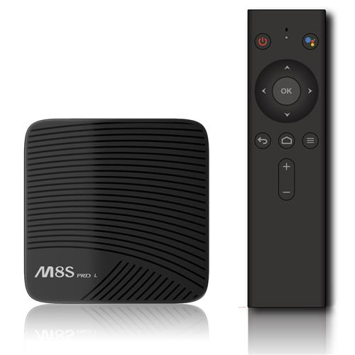 MECOOL M8S PRO L Android TV OS 3GB/32GB YouTube 4K TV Box with Voice Remote Amlogic S912 KODI 17.3 802.11ac WiFi Bluetooth LAN HDMI