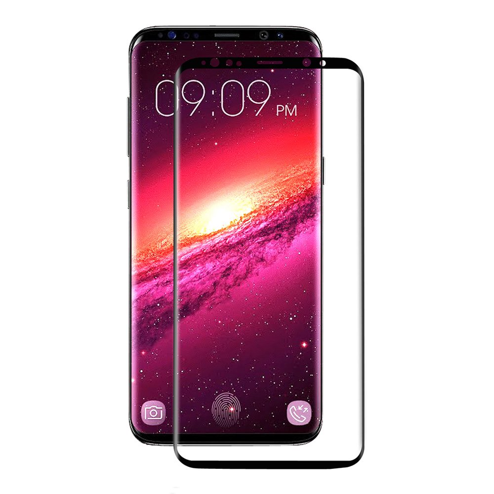 ENKAY Hat-Prince Samsung Galaxy S9 Tempered Glass 0.26mm 3D Screen Film Screen Protector Glass Film - Black фото
