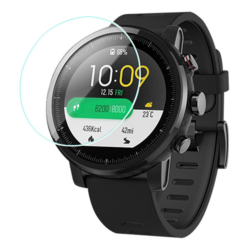 Protective Screen Film For Huami Amazfit Stratos 2/2S Smart Sports Watch 2PCS PET - Transparent