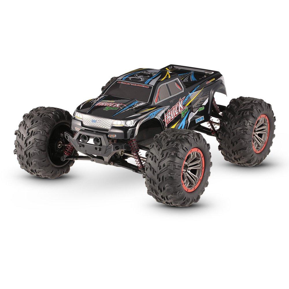 XINLEHONGおもちゃ9125 1:10 2.4G 4WDブラシ付きハイスピードオフロードRCカーRTR  - ブルー