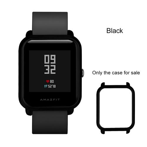 Protective Cover Case For Huami Amazfit Bip Smartwatch PC Case Multiple Color - Black фото
