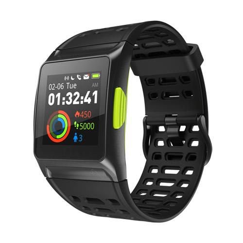 Makibes BR1 Smartwatch Support Strava IPS Color Touchscreen GPS IP67 Water Resistant Multisport Smart Band Heart Rate Monitor  - Black