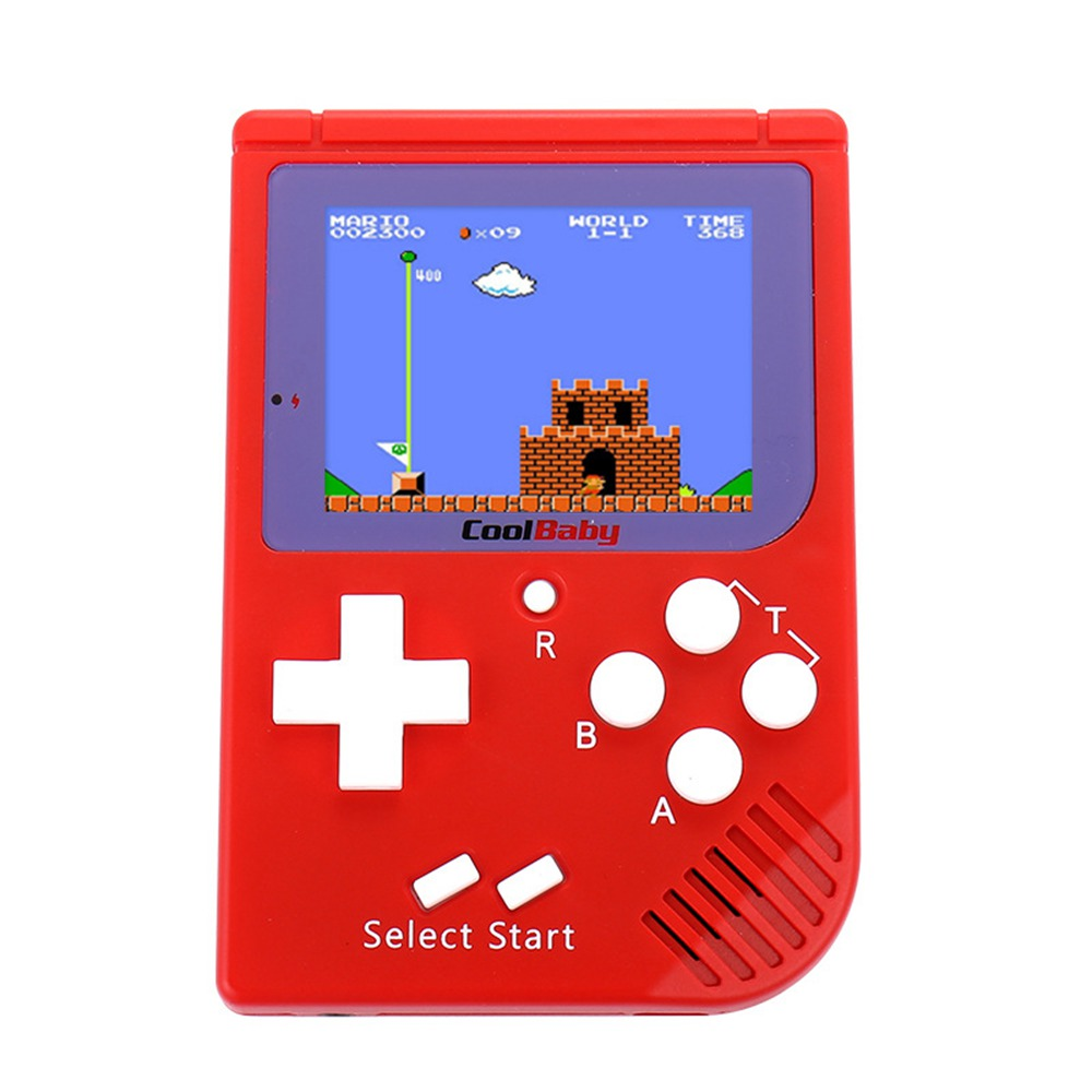 Coolbaby RS-6 Mini Retro Handheld Game Console 2.5 inch LCD Built-in 129 Games - Red