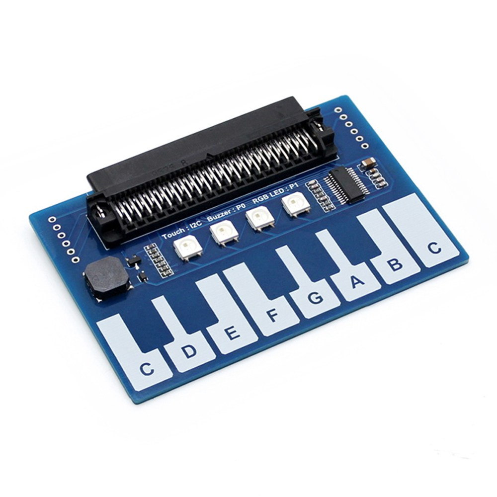 Waveshare Mini Piano Module with 4x RGB LEDs for micro:bit Touch Keys to Play Music