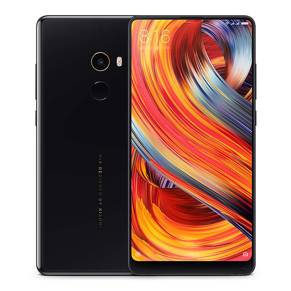 Xiaomi Mi Mix 2 5.99 Inch 4G LTE Smartphone 6GB 64GB 12.0MP Cam Snapdragon 835 Octa Core Android 7.1 NFC VoLTE Four-sided Curved Ceramic Body Global ROM - Black