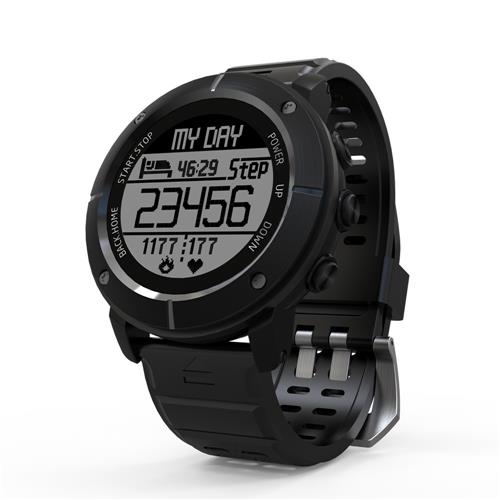 Makibes G06 Smartwatch Heart Rate Monitor IP68 Water Resistant GPS Sports Watch Compatible With IOS Android - Black