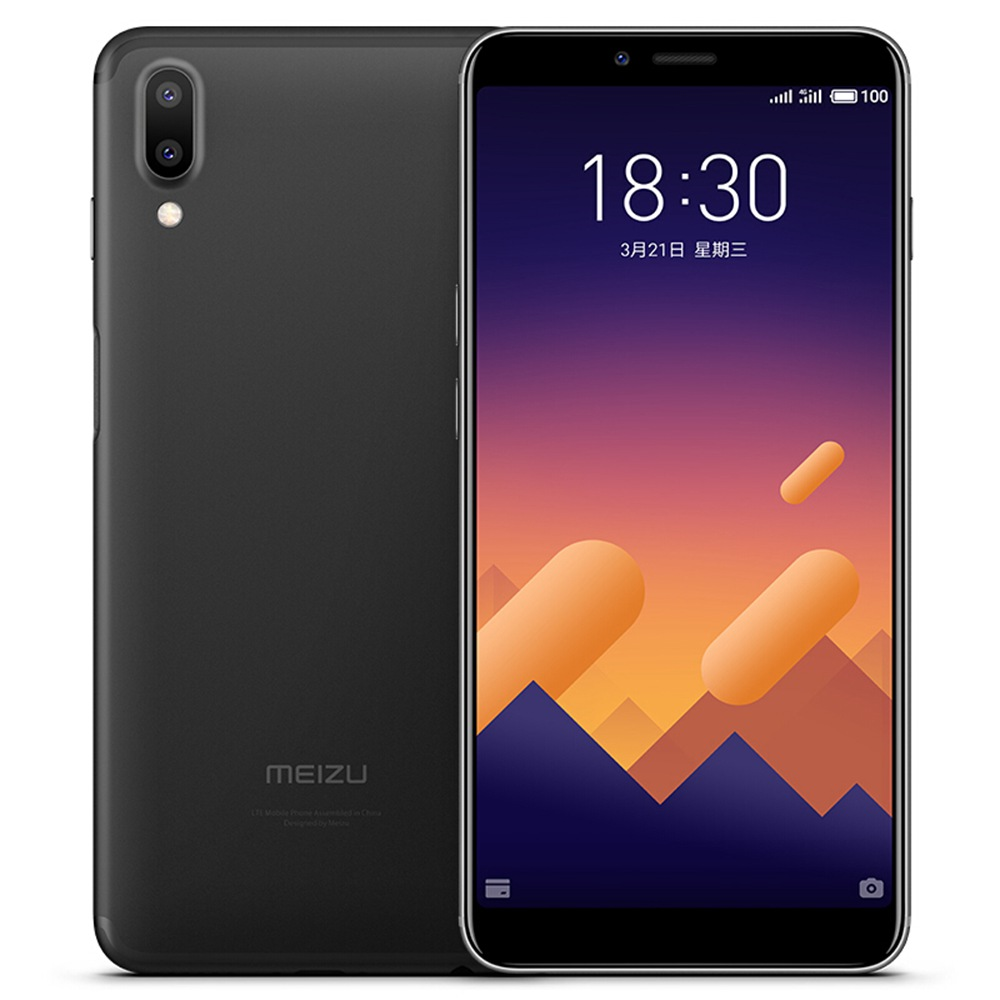 Meizu E3 5.99 Inch Smartphone Snapdragon 636 Octa Core 6GB 64GB 12.0MP+20.0MP Dual Rear Cameras  Flyme OS 18:9 Full Screen Touch ID - Black