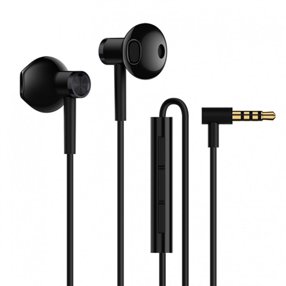 Xiaomi félig fülbe dugható kétfázisú fejhallgató fülhallgatóval Mic-Fekete