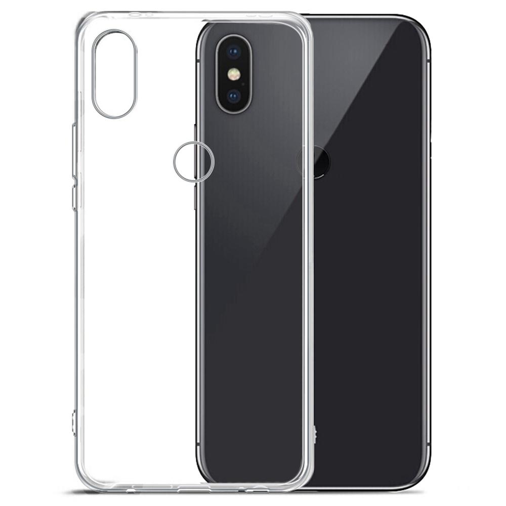 Xiaomi Redmi Note 5 Cas de Téléphone Étui Souple Téléphone de Protection Coque Coque Arrière - Transparent