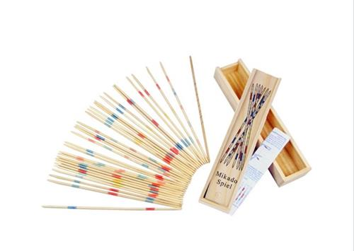 Traditional Baby Educational Sticks Mikado Spiel Pick Up Sticks With Box Game - Wood Color