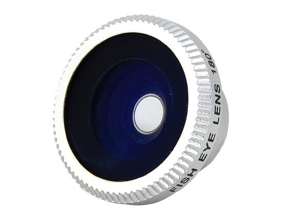 180 Degrees Fisheye Lens for Mobile Phones Digital Cameras - Silver